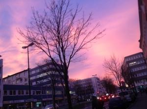 Himmel in Pink